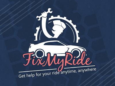 Fix my ride - Car servicing car repair servicing car ios mobile app logo design