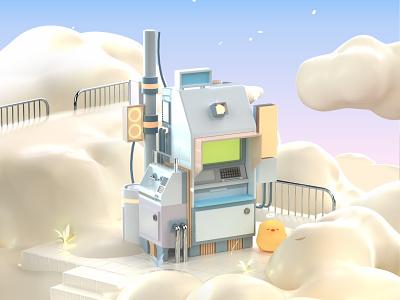 Cloud graphic design 3d