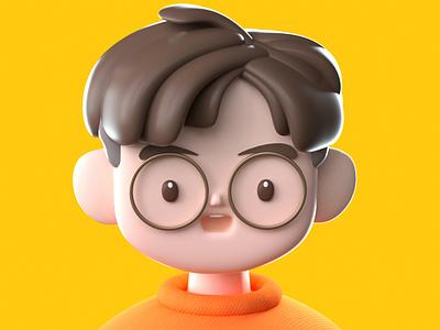 Take Photo cartoon style illustration design 3d character