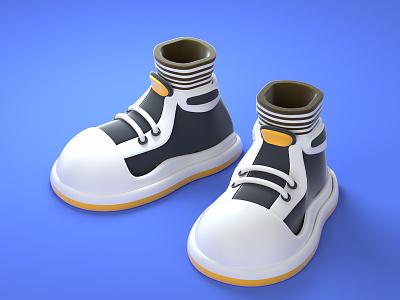 cartoon shoes graphic design ui character illustration design 3d