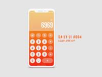 DailyUI Challenge #004 - Calculator app