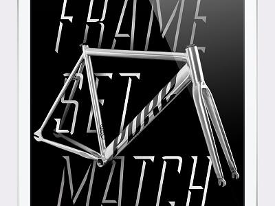 PureFix Ad type bike typography advertisement