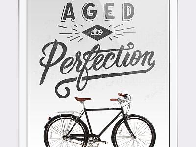 PureCity Ad lettering bikes ad