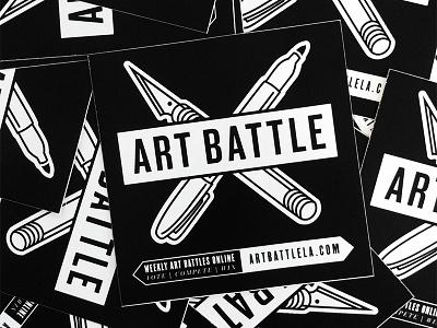 Art Battle L.A. Logo logo art battle design illustration