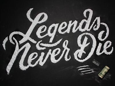 Legends lettering type cocaine