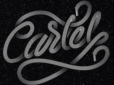 SNKR Cartel lettering laces type
