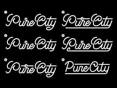 Pure City Logo Type logo typography type