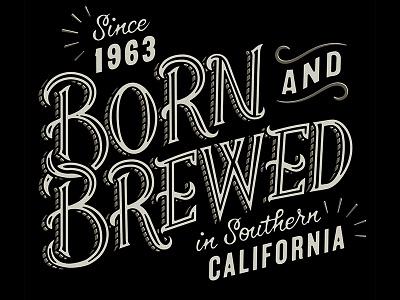 Born & Brewed illustration typography lettering