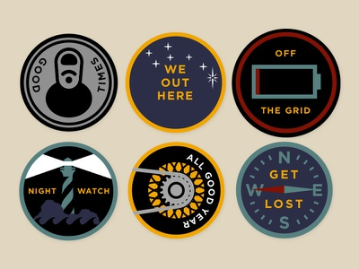 All Good Patches illustration outdoors patch design