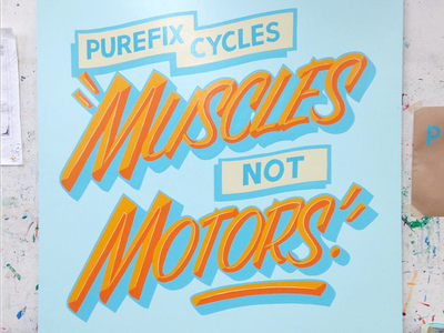 Muscles Not Motors casual trade tech 1shot sign painting