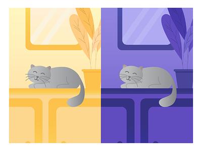 Cute Cat animal graphic design design illustration