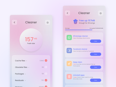Xiaomi Cleaner App design ux ui