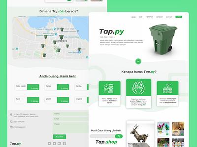 Tappy - Homepage branding minimal website web ux ui design