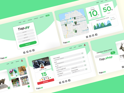 Tappy - User Page branding website web minimal ux design ui
