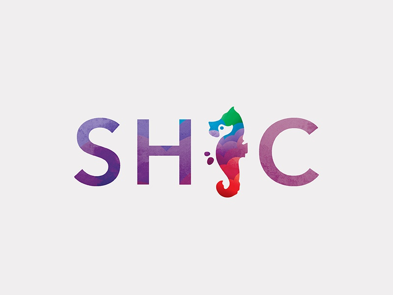 SHC  branding logo mark logo logo form logo design seahorse canine dog trainer dogs animal sea sea animal