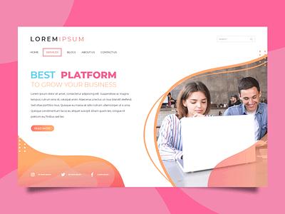 business mockup dribbble platform business website design web design webdesign vector logo clean web website design