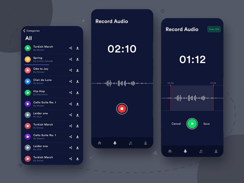 Audio Recording App UI