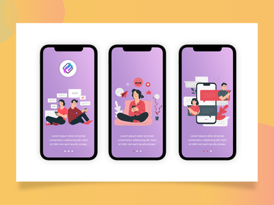 APP INTRO illustration desing color branding icon web website iphone app ux clean design