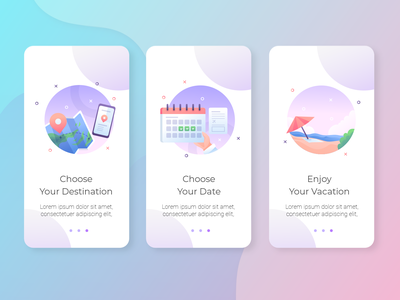 Holiday Planner desing color branding icon web website iphone app ux ui clean design