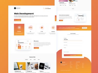 Web Development desing color branding icon web website iphone app ui ux clean design