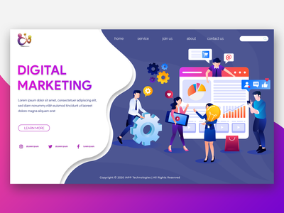 Digital Marketing color icon branding web iphone website app ux ui clean design