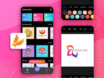 Logo Maker App UI ux ui dribbble ui app store make logos app ui logo maker