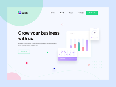 Unique Business landing page website webdesign web ux ui psd photoshop design