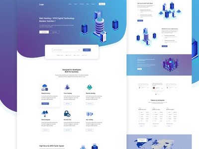 Digital Hosting Landing page
