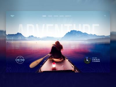 Adventure concept River Trip