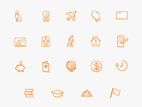 Study Abroad Icons