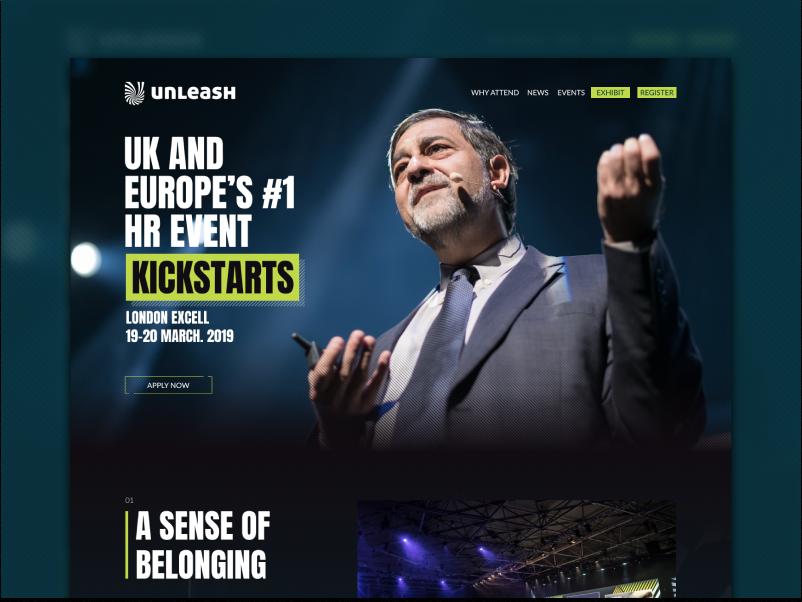 Unleash 2019 Preview unleash ui  ux design conference website