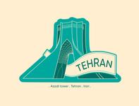Hometown celebration sticker: Tehran