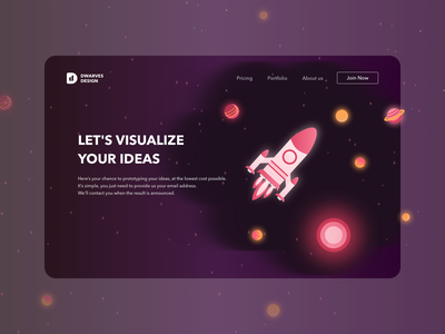 Rocket Boost Landing Page landing page illustration desktop design