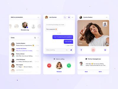 UI Elements #2: Communication ux design dashboard colors mobile design mobile chat communication ui kit user interface designer ios app design clean app interface web design ui design ux ui design