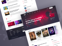 Music Blog party designer user interface blog website websitedesign music minimal interface web design ui design ux design ux ui design