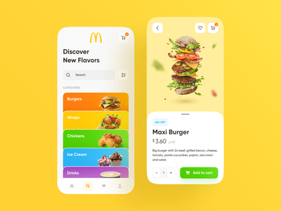 McDonald #2 food ux mcdonald ecommerce colors burgers mobile design food delivery food app mobile ios app design app web design ui design ui design