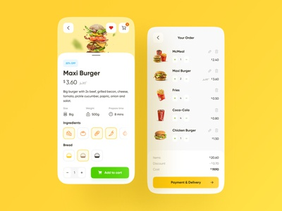 McDonald's App #3 interface design web design ux design ux ui design ui ios food delivery food app colors mobile design mobile app design app shopping cart burger ecommerce mcdonald
