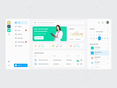 Medical App coronavirus covid mobile stats chart doctor dashboard colors telemedic medical interface ios app design app ux ui web design ux design ui design design