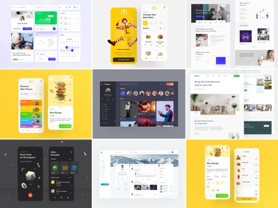 Selected shots in 2020 ecommerce mcdonalds redesign instagram twitter ui kit dashboard graphic design website landing page mobile design mobile app app design interface ux design web design ui design ui design