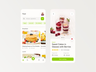 Food App designer app photos mobile ios recipes food food app mobile design app design interface web design ux design ui design design