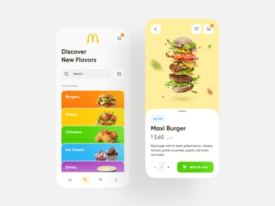 McDonald's App order mobile app fastfood ux ui interface concept app redesign good burger mcdonalds food app mobile design ios app design web design ux design ui design design