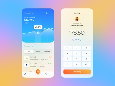 Finance App #2 ux design ux designer application banking finance gradient glassmorphism colors mobile design mobile ios app design app interface web design ui ui design design