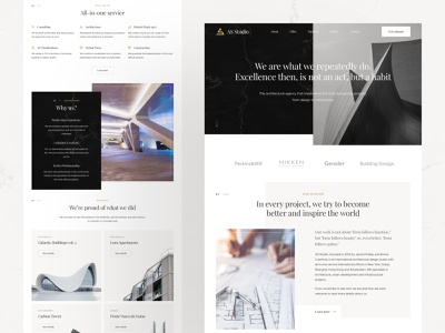 Architecture Studio typography digital web luxury architecture gold marble photos minimal interface web design ux design ux ui ui design design website landing page