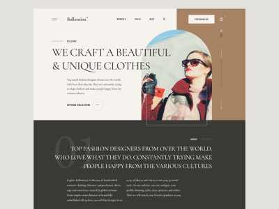 Fashion brand typography e-commerce designer photos ux design interface web design minimal fashion landing page ux ui ui design design website