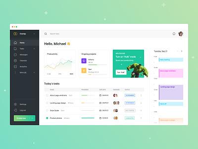 Athena - Dashboard user interface calendar chart designer desktop application task manager gradients colors ux ux design app design app task app tasks dashboard web design ui design ui design