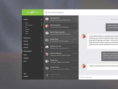 LemonTea CRM clean flat ios app dashboard design interface ux design ui design ux ui