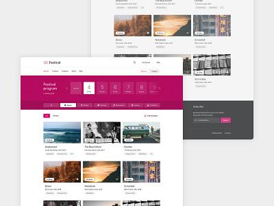 Film Festival interface minimal flat clean ux ui web design landing page ux design ui design design festival