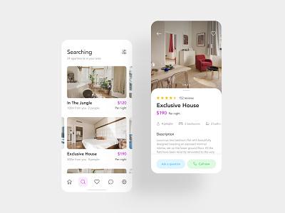 Find and Rent Apartments web design interface design interface photos app design real estate apartments mobile design mobile flat e-commerce app clean ux design ui design design ux ui