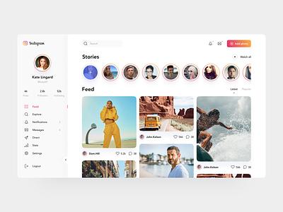 Instagram redesign concept overlapstudio 4x