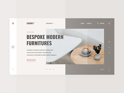 Bespoke Modern Furnitures furnitures figma photos e-commerce uidesign minimal flat interface clean web design ux design ui design ux design ui